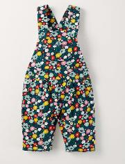 Jersey Dungarees Navy Paintbox Floral Ditsy  Boden