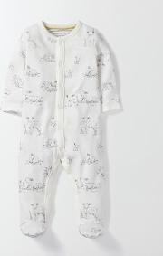 Lambs Super Soft Sleepsuit Ivory Baby Boden