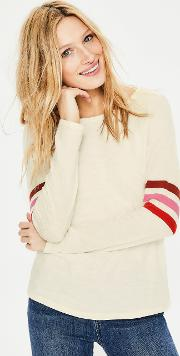 Allie Jersey Tee Ivory Women