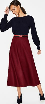 British Tweed Midi Skirt Purple Women