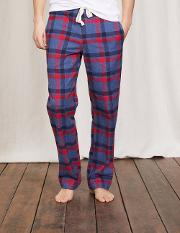 Brushed Cotton Pull Ons Blue Marl/red Check Men