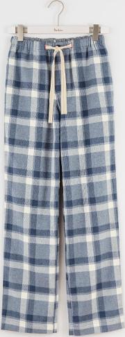 Brushed Cotton Pull Ons Blues Marl Check Men