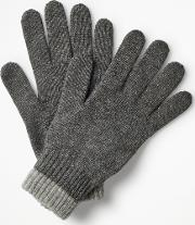 Cashmere Gloves Grey Marl Men