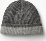 Cashmere Hat Grey Marl Men