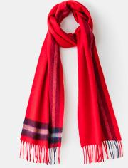 Cashmere Scarf Red Men Boden