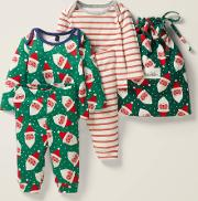 Cosy Twin Pack Pyjamas Green