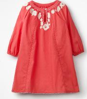 Embroidered Kaftan Red Girls