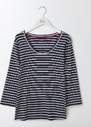 Essential Scoop Neck Navy/ivory Women