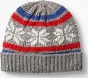 Fair Isle Hat Grey Boys
