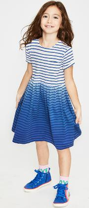 Fun Jersey Dress Blue Girls