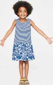 Hotchpotch Jersey Dress Blue Girls