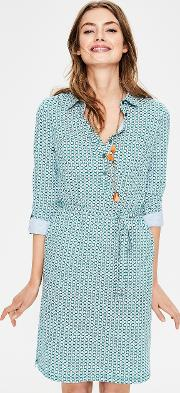 Jena Jersey Shirt Dress Green Women