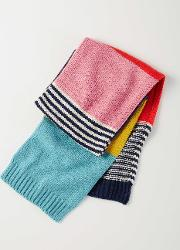 Knitted Scarf Colourblock Stripe Girls