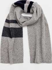 Lambswool Scarf Wide Stripe Men