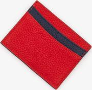 Leather Card Holder Red Women