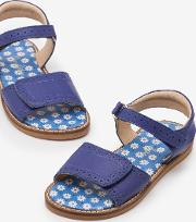 Leather Padded Sandals Blue Girls