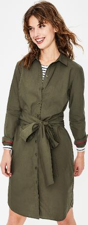 Modern Shirt Dress Khaki Women