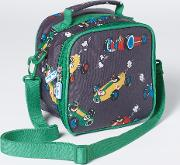 Printed Lunch Bag London Grey Speedy Sprout Boys