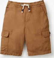 Pull On Cargo Shorts Brown Boys