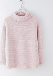 Rosemary Rollneck Jumper Pink Pearl Women
