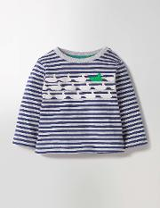 Spot The Difference T Shirt Grey Marl/beacon Blue Ducks Baby