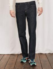 Straight Leg Jeans Dark Rinse Denim Men