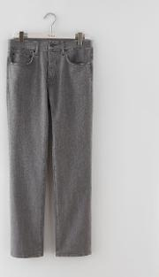 Straight Leg Jeans Grey Denim Men
