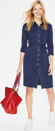Tara Jersey Shirt Dress Denim Women