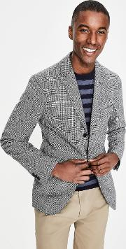 Unstructured Casual Blazer Black Men