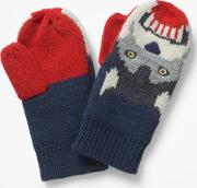 Wolf Mittens Blue Boys
