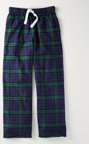 Brushed Pull Ons Navy Check Boys Boden