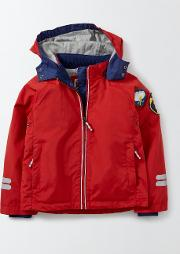 Jersey Lined Anorak Salsa Red Boys Boden