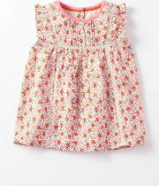 Pretty Woven Top Formica Pink Rosehip Girls Boden