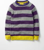 Stripy Raglan Crew Jumper Boys