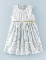 The Lace Dress Mist Girls Boden