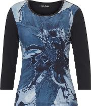 Betty Barclay Floral Front Jersey Top