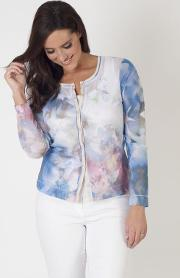 Betty Barclay Printed Mesh Cardigan