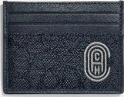 Card Case In Signature Jacquard With Patch
