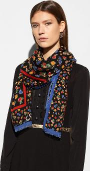 Daisy Field Oversized Square Scarf