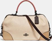 Lane Satchel In Colorblock With Snakeskin Detail