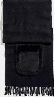 Oversized Muffler With Shearling Pockets