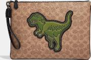 Pouch 30 In Signature Canvas With Rexy