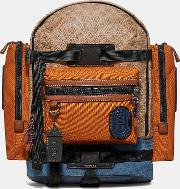 Ridge Backpack In Signature Canvas With Patch