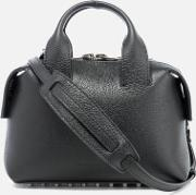 women's rogue small embossed snakeleather satchel black