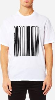 Men's Classic Barcode Short Sleeve T Shirt White L White