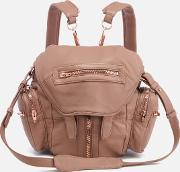 Women's Mini Marti Latte Washed Leather Backpack Latte