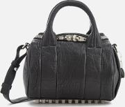 Women's Mini Rockie Pebbled Leather Bag With Rhodium Studs