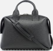 Women's Rogue Large Embossed Snakeleather Satchel Black