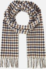 Men's Lambswool Club Check Scarf Vicuna