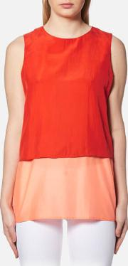 Women's Civille Layered Top Bright Red